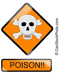 Poison sign - Vector Ilustration
