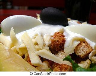 Greek salad Low fat dinner