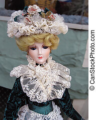 Vintage Victorian Porcelain Doll - A beautiful porcelain...