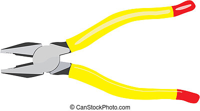 flat-nose pliers - The image of very necessary manual tool...