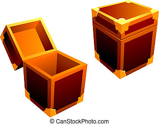 pequeño, decorativo, caja