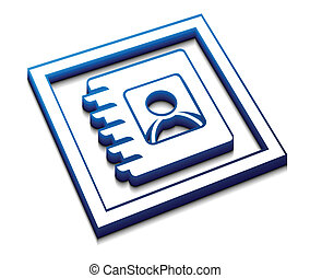 directory web icon - 3d vector glossy user directory web...