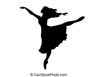 Ballerina silhouette - Sihouette of a Ballerina performing...