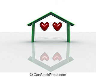 two hearts for a roof