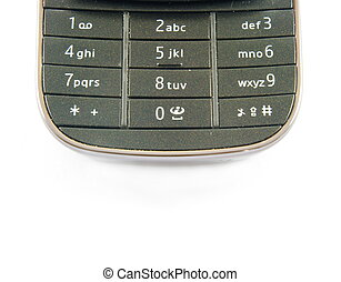 phone keypad - closeup of cellular phone keypad