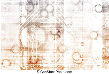Science Technology Data as a Abstract Art