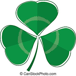 Three leaf clover plant - A stylised three leaf clover plant...