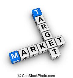 target market crossword symbol