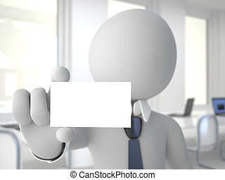 Businessman with a business card