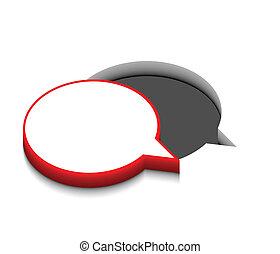 vector speech icon design