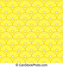 Lemon slices seamless - A seamless background of sliced...