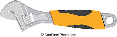 adjustable wrench - The vector image of an adjustable...