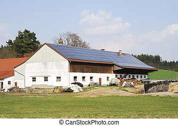 Alternative energy - Old farm house with innovative...
