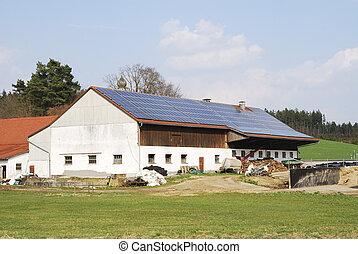 Alternative energy - Old farm house with innovative...