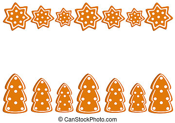 Christmas border - Christmas gingerbread cookies border....