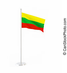 3D flag of Lithuania