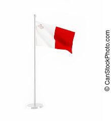 3D flag of Malta