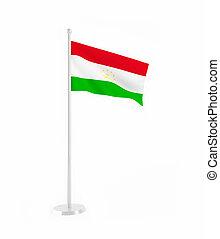 3D flag of Tajikistan