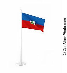 3D flag of Haiti