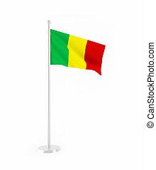 3D flag of Mali