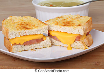 Grilled Ham and Cheese Sandwich - Grilled ham and cheese...
