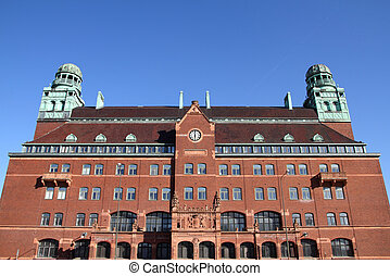 Malmo, Sweden - the main Post Office. City in Scania county...