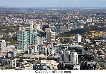 South Melbourne - Melbourne, Australia. Aerial view of...