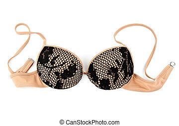 beige bra with patterns