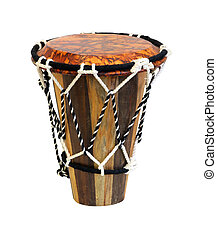 Moroccan drum - Authentic African drum isolated with...