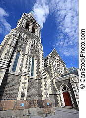 Christchurch cathedral - ChristChurch Anglican cathedral in...