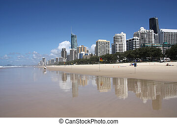 Surfers Paradise - Waterfront skyline with famous Q1...
