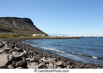 Iceland - Snaefellsnes - Typical nordic town - Olafsvik at...