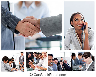 Set of image with business people at work - Set of images...
