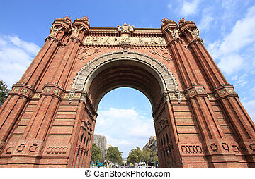 Barcelona - The Arc de Triomf English: Triumphal Arch -...