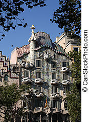 Barcelona, Spain - Beautiful modernisme architecture by...