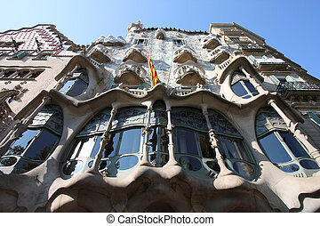 Barcelona - Beautiful modernisme architecture by Antoni...