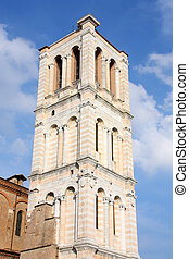 Ferrara, Italy - Italy - unfinished bell tower of Romanesque...