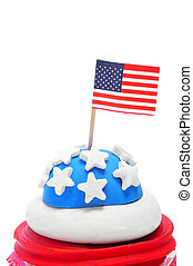 american cupcake - a cupcake decorated with the colors and...
