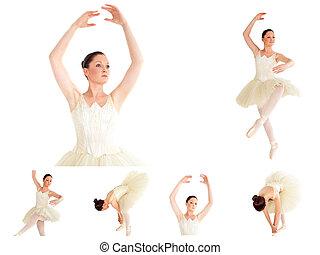 collage, ballet, bailarín