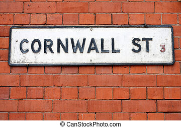 Birmingham - Cornwall Street sign West Midlands, England