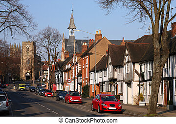 Warwick - Typical English architecture Warwick town in...