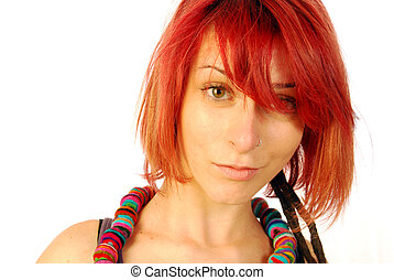 Red hair - A beautiful young girl with red hair