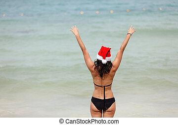santa claus woman holiday