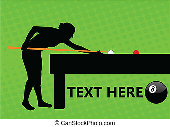 Billiard template - vector