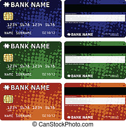 Credit cards design - vector