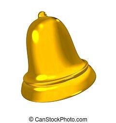 3D golden bell