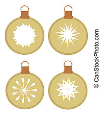 Christmas ornamenst - Set of vector ornaments - glass balls