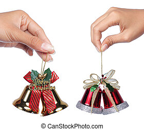 gesture of hand holding bell - gesture of hand holding red...