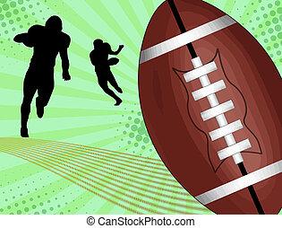 American football poster design, vector illustration