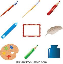 Set of art objects